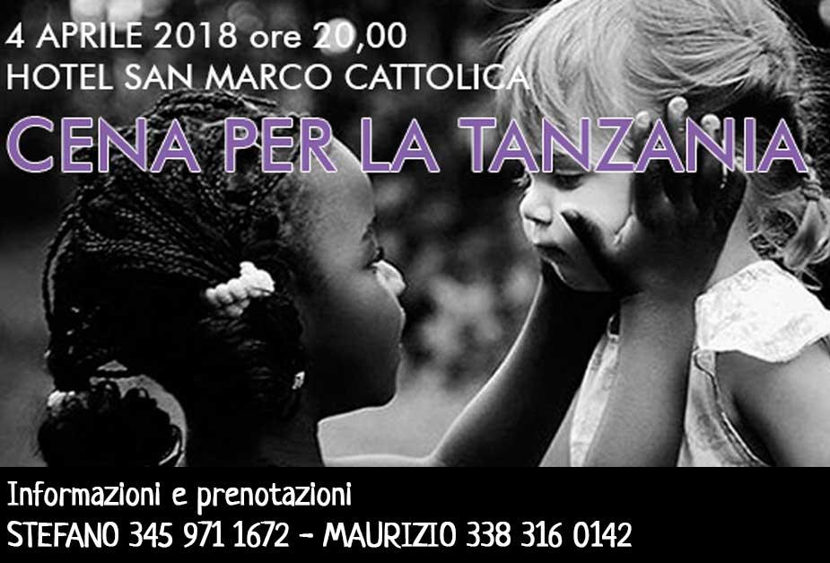 4 aprile: Cena per la Tanzania